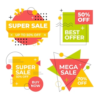 Set of colorful sales banners
