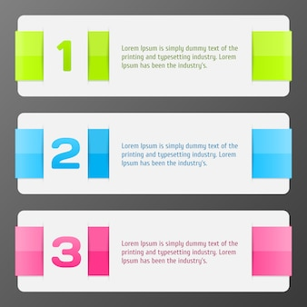 Set of colorful vector banners progress background / product choice or versions