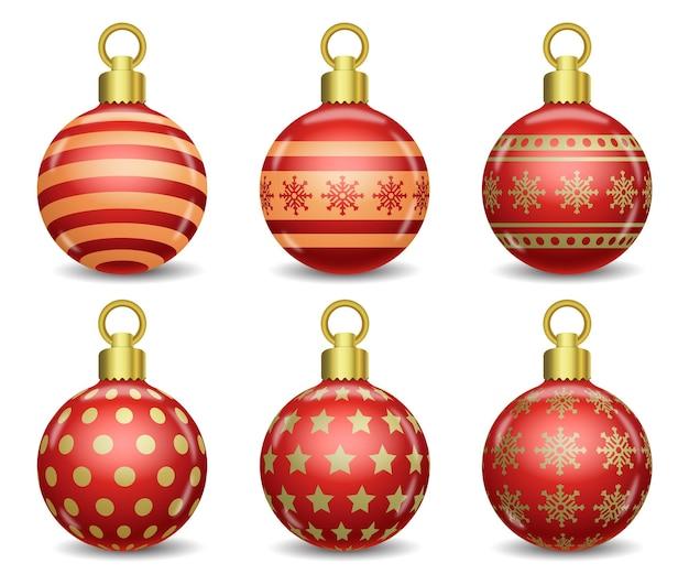 Set of colorful vector christmas balls