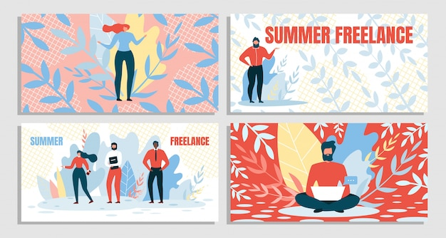 Set combination summer and freelance,