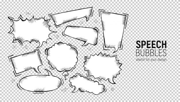 Set of comic speech bubbles.