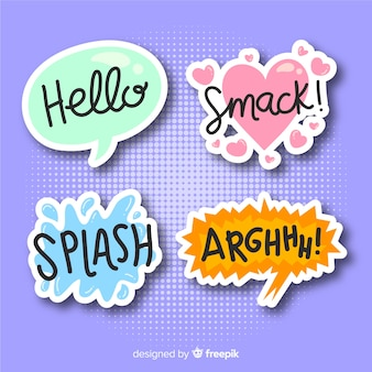 Set of comic speech bubbles