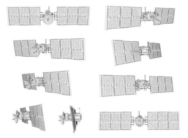 Set. communications satellite of near-earth orbit.