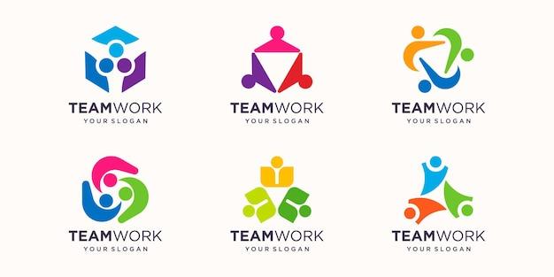 Set of community people logo. vector illustration