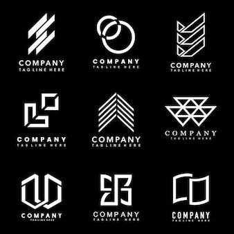 Set of company logo design ideas