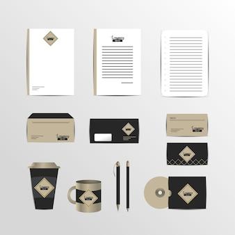 비즈니스 문서와 회사 고정 템플릿 설정