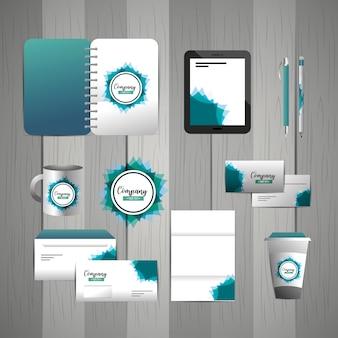 Установите фирменный стационарный шаблон с деловыми документами