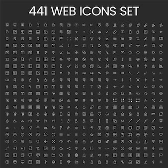 Set of computer icon vectors