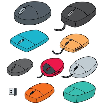 Set of computer mouse