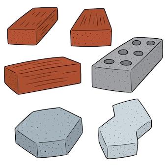 Set of concrete construction block