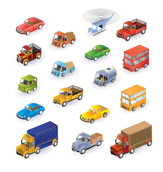 Set consisting of vehicles in the isometric