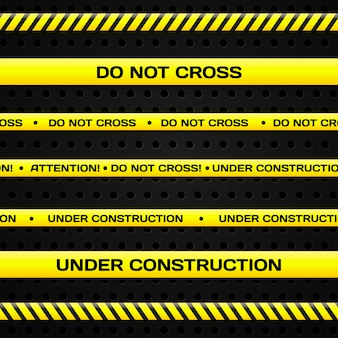 Set of under construction lines