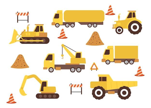 Установить строительные машины