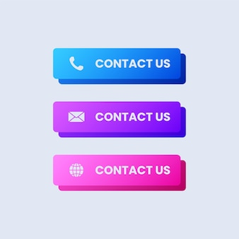 Set of contact us buttons