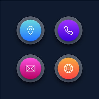 Set of contact us icons