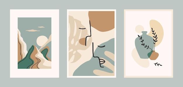 Set of contemporary art prints