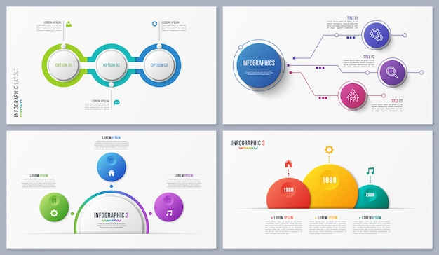 Set of contemporary infographic designs