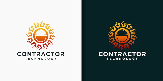 Set of contractor logo templates