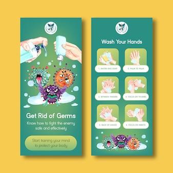 Set of coronavirus flyers
