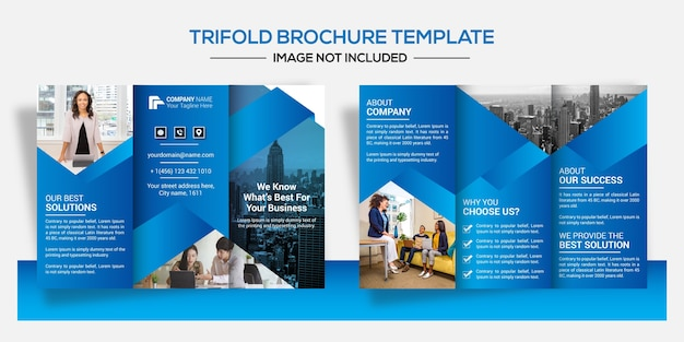 Set of corporate business brochure