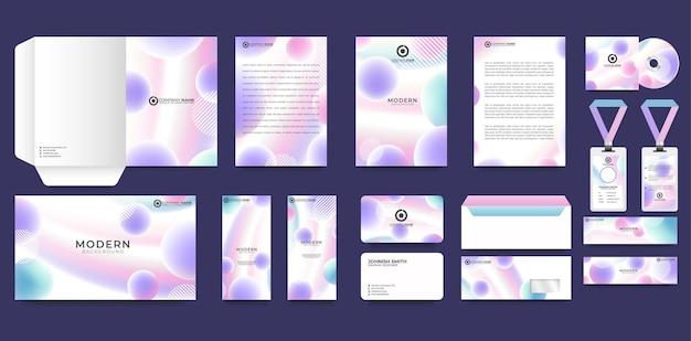 Set of corporate identity branding template
