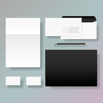 Set of corporate identity style template design, illustration.