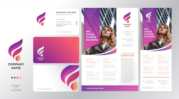 Set corporateflyer template and company profile instagram story for real estate