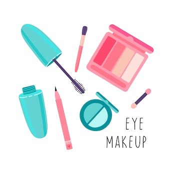 Set cosmetics for eye makeup