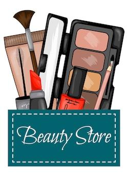 Set of cosmetics for visage.