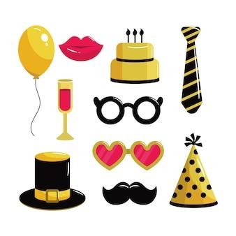 Set costume to happy birthday party