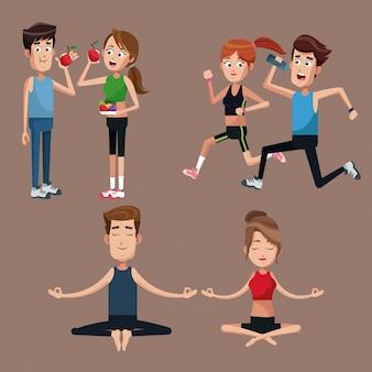 Установить пару спорта здоровым