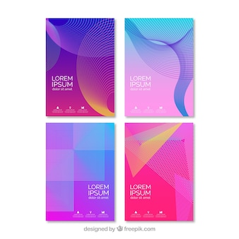 Set of cover templates with geometric design