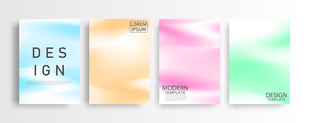 Set of covers with abstract design