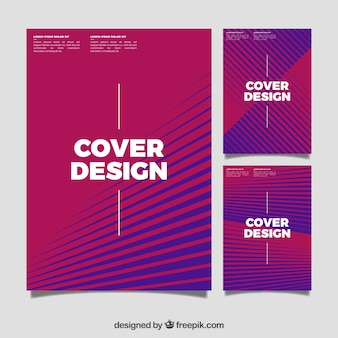 Set of covers with abstract lines