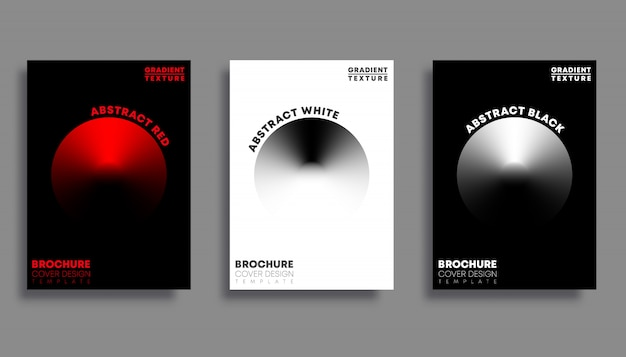 Set of covers with gradient texture circles