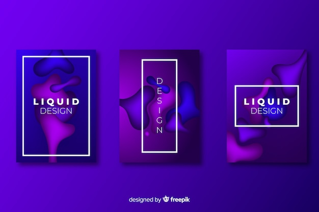 Set of covers with liquid effect