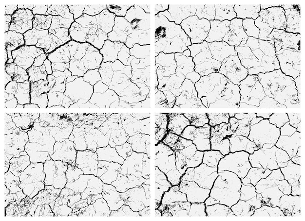 Set of cracked earth textures