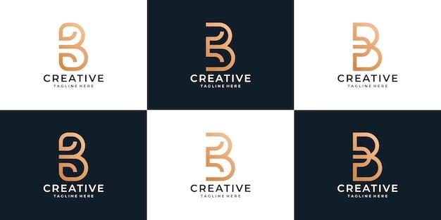 Set of creative b logo