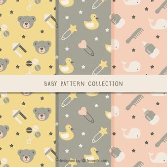 Set of creative baby patterns