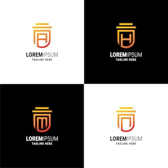 Set of creative branding logo template