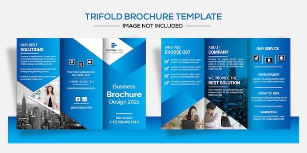 Set of creative business brochure