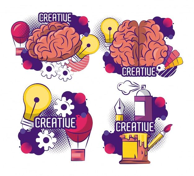 Set of creative design