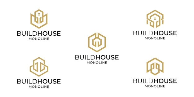 Set of creative house logo design collection inspirations template