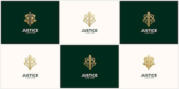 Set creative justice logo in gold