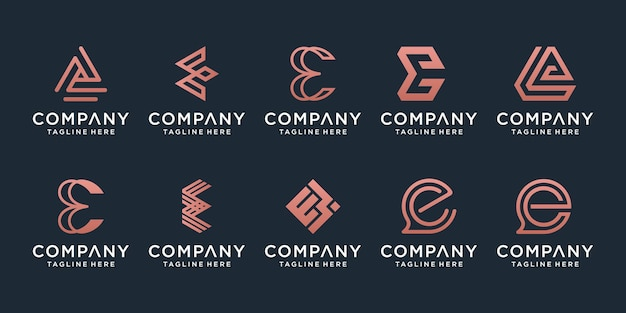 Set of creative letter a logo design template. icons for business of luxury, elegant, simple.