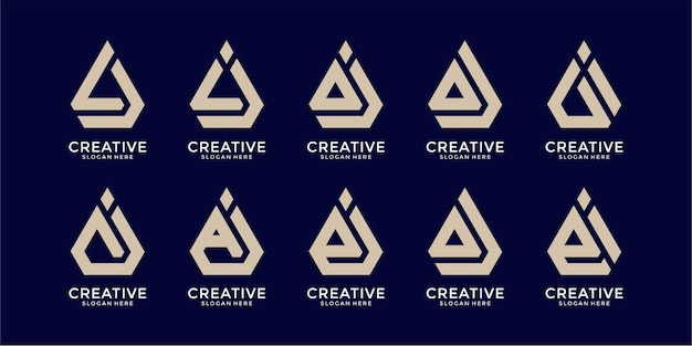 Set of creative letter logo template