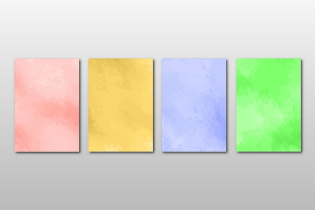 Set of creative minimalist hand painted. abstract watercolordesign curve lines shape set of tow