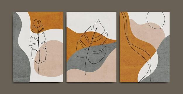 Set of creative minimalist hand painted.