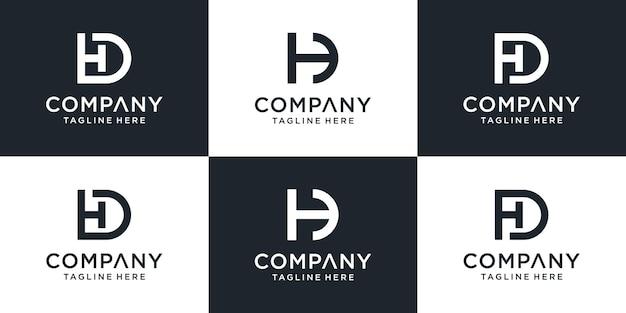 Set of creative monogram initial letter hd logo template