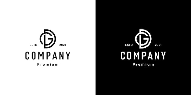 Set of creative monogram letter gd logo template. the logo can be used for business and building company.